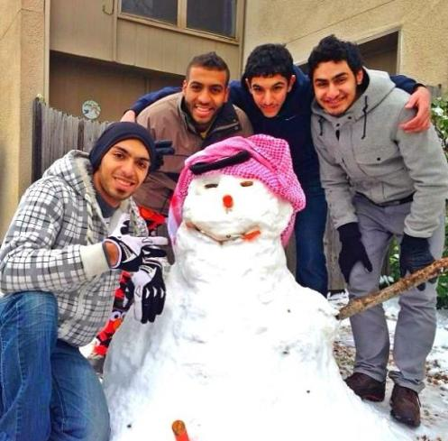Saudi snowman